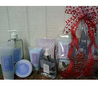 Spa items(Hydrangea, Sea Mist, Green Tea) available scents in Chattanooga TN, Chattanooga Florist 877-698-3303
