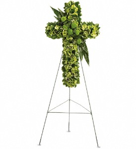 Garden Cross in Santa Monica CA, Edelweiss Flower Boutique