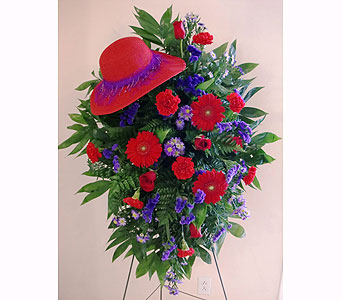 Red Hat Society Floral Tribute in Nashville TN, Flowers By Louis Hody