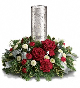 Teleflora's Snow-Kissed Roses Centerpiece in Chicago IL, La Salle Flowers