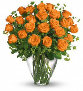 24 ORANGE ROSES in Orlando FL, Colonial Florist