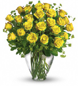 24 YELLOW ROSES in Orlando FL, Colonial Florist