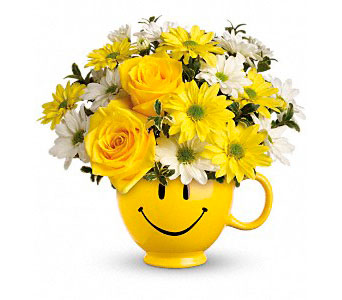 Teleflora's Be Happy Mug in Ogden UT, Jimmy's Flowers