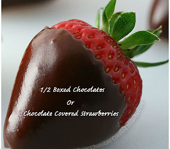 Box Chocolates or Chocolate Covered Strawberry in Johnstown PA, B & B Floral