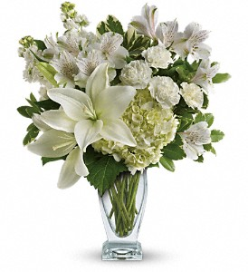Teleflora's Purest Love Bouquet in Brownsburg IN, Queen Anne's Lace Flowers & Gifts