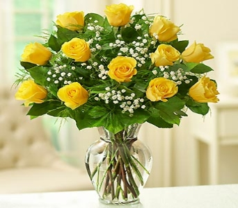 Rose Elegance - Dozen Premium Longstem Yellow Rose in El Cajon CA, Conroy's Flowers