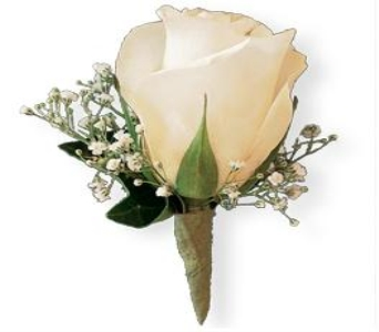 White Rose Boutonniere in Perrysburg & Toledo OH  OH, Ken's Flower Shops