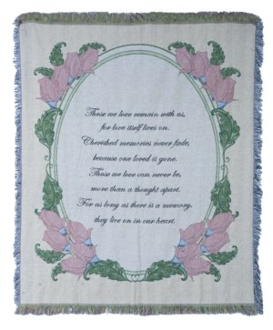 Those We Love Remain With Us Tapestry Throw in Pendleton IN, The Flower Cart