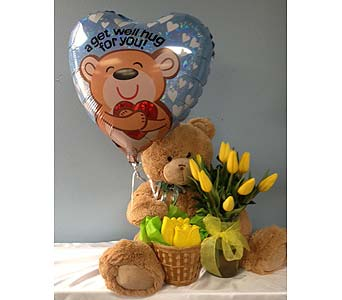 Get Well Soon Bear Bouquet in Portland OR, Portland Bakery Delivery