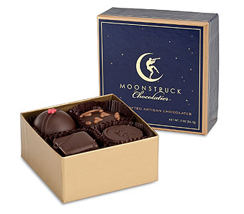 (2)Moonstruck 4 piece chocolates in Portland OR, Portland Bakery Delivery