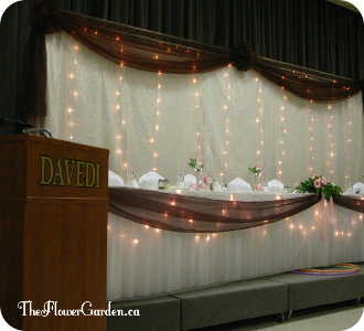 Linen Backdrop in North Bay ON, The Flower Garden
