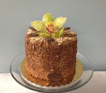 German Chocolate Cake with Orchid in Portland OR, Portland Bakery Delivery