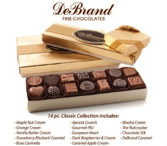 Gold Collection 14pc. (1/2lb.) Chocolate Package in Indianapolis IN, McNamara Florist