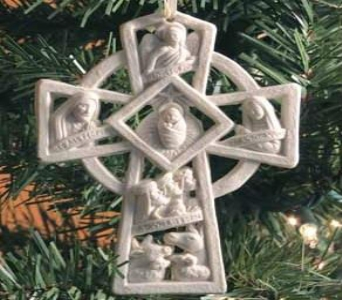 Nativity Cross Ornament in Perrysburg & Toledo OH  OH, Ken's Flower Shops