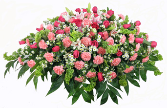 Love's Garden Casket Spray in Las Vegas NV, A French Bouquet