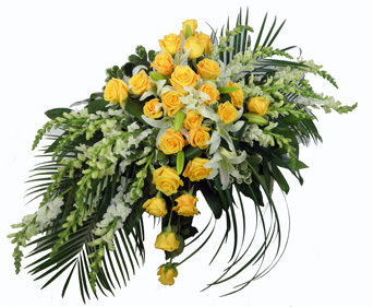 Sunshine Sentiments Casket Spray in Las Vegas NV, A French Bouquet