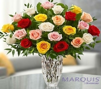 Marquis by Waterford� - Premium Assorted Roses in El Cajon CA, Conroy's Flowers