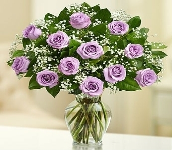 Rose Elegance� Premium Long Stem Roses - Purple in El Cajon CA, Conroy's Flowers