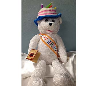 Birthday Bear with Candles in Portland OR, Portland Bakery Delivery