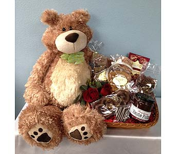 Large Teddy Bear with Chocolates Galore in Portland OR, Portland Bakery Delivery