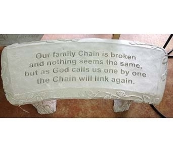 Garden Bench- Family chain in Brownsburg IN, Queen Anne's Lace Flowers & Gifts