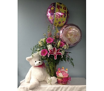 Baby Girl Bundle-Deluxe in Portland OR, Portland Florist Shop