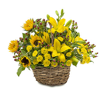 Sunset Basket in Raritan NJ, Angelone's Florist - 800-723-5078