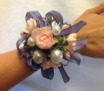 Lavender Bubble Gum Corsage in Estero FL, Petals & Presents