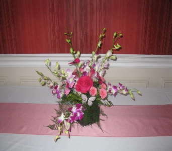 Orchid Centerpiece in North Bay ON, The Flower Garden