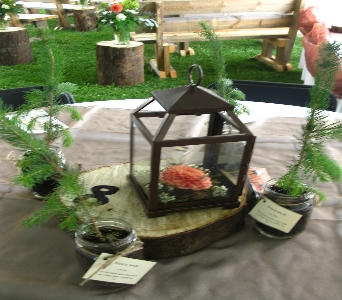Rustic Centerpiece in North Bay ON, The Flower Garden