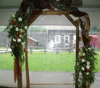 Rustic Arbor in North Bay ON, The Flower Garden
