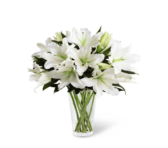 WHITE LILY BOUQUET in Chicago IL, La Salle Flowers