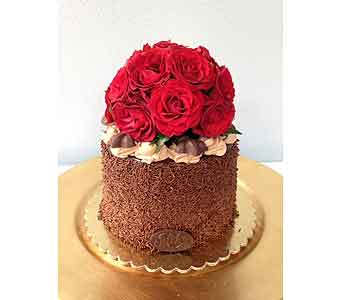 Chocolate Fudge Rose Cake in Portland OR, Portland Florist Shop