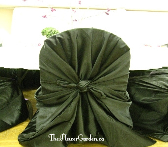 Black Chair Cover in North Bay ON, The Flower Garden