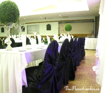 Classic Black Chair Wraps in North Bay ON, The Flower Garden