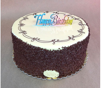 7th Heaven Cake 9 inch w/HB Sign in Portland OR, Portland Bakery Delivery