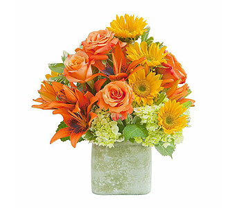 Textured Sunset Vase in Rochester NY, Fioravanti Florist
