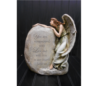 Memorial Angel Figurine in Ionia MI, Sid's Flower Shop