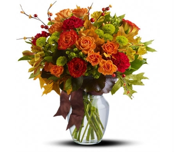 Nature's Beauty Fall Bouquet in Santa Monica CA, Edelweiss Flower Boutique