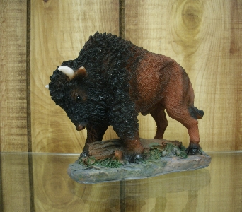 Small American Bison Figurine in Ionia MI, Sid's Flower Shop