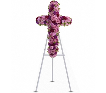Devotion and Faith Cross in Santa Monica CA, Edelweiss Flower Boutique