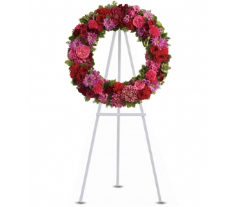Infinite Love Wreath in Santa Monica CA, Edelweiss Flower Boutique