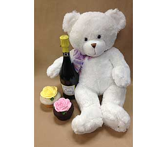 Prosecco Wine and bear in Portland OR, Portland Florist Shop