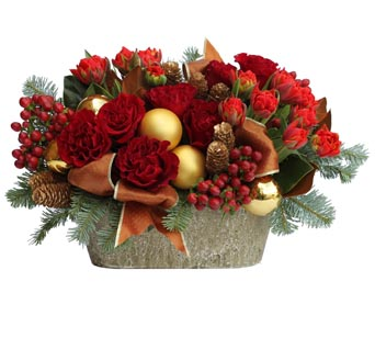 Christmas tulips and roses in Santa Monica CA, Edelweiss Flower Boutique