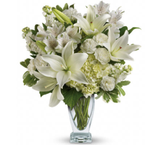 Purest White Bouquet in Santa Monica CA, Edelweiss Flower Boutique