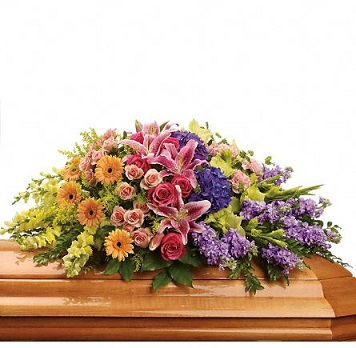 Garden of Sweet Memories Casket Spray in Perrysburg & Toledo OH  OH, Ken's Flower Shops