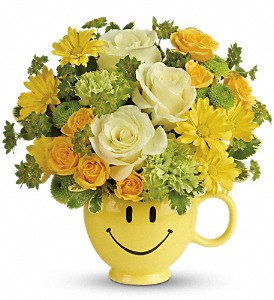 Teleflora's You Make Me Smile Bouquet in Brownsburg IN, Queen Anne's Lace Flowers & Gifts