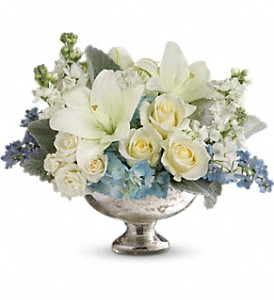 Telflora's Elegant Affair Centerpiece in Santa Monica CA, Edelweiss Flower Boutique
