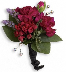 Red Carpet Romance Boutonniere in Perrysburg & Toledo OH  OH, Ken's Flower Shops