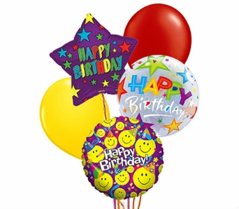 Birthday Mylar Balloon Bouquet in Birmingham AL, Norton's Florist